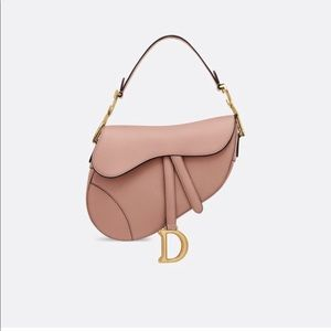 Blush Dior Saddle Bag